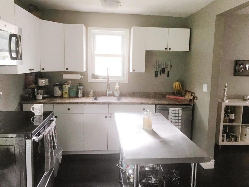 L'ancienne cuisine avant les travaux de décoration