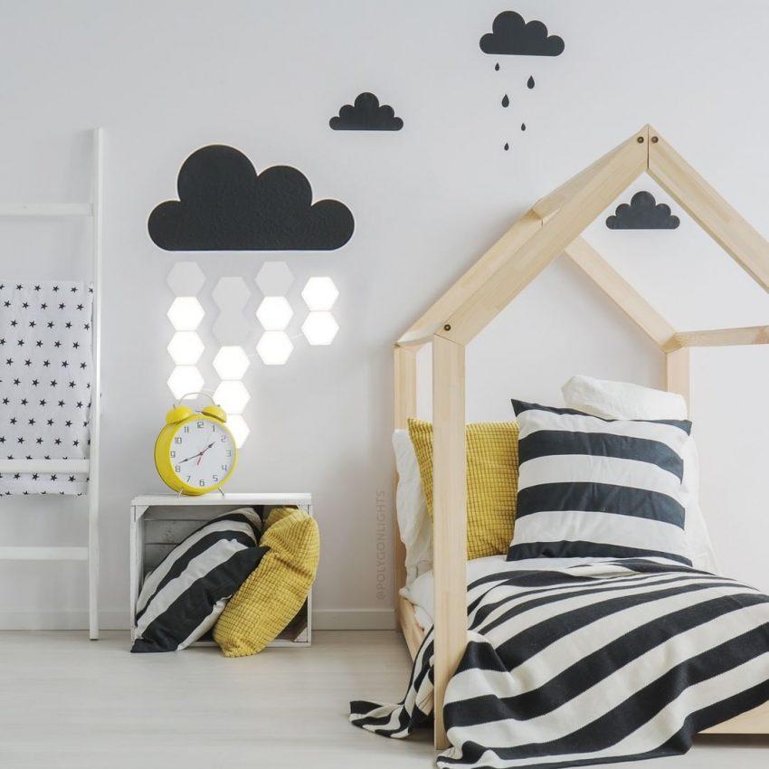 Chambre d'enfant à la décoration scandivane moderne