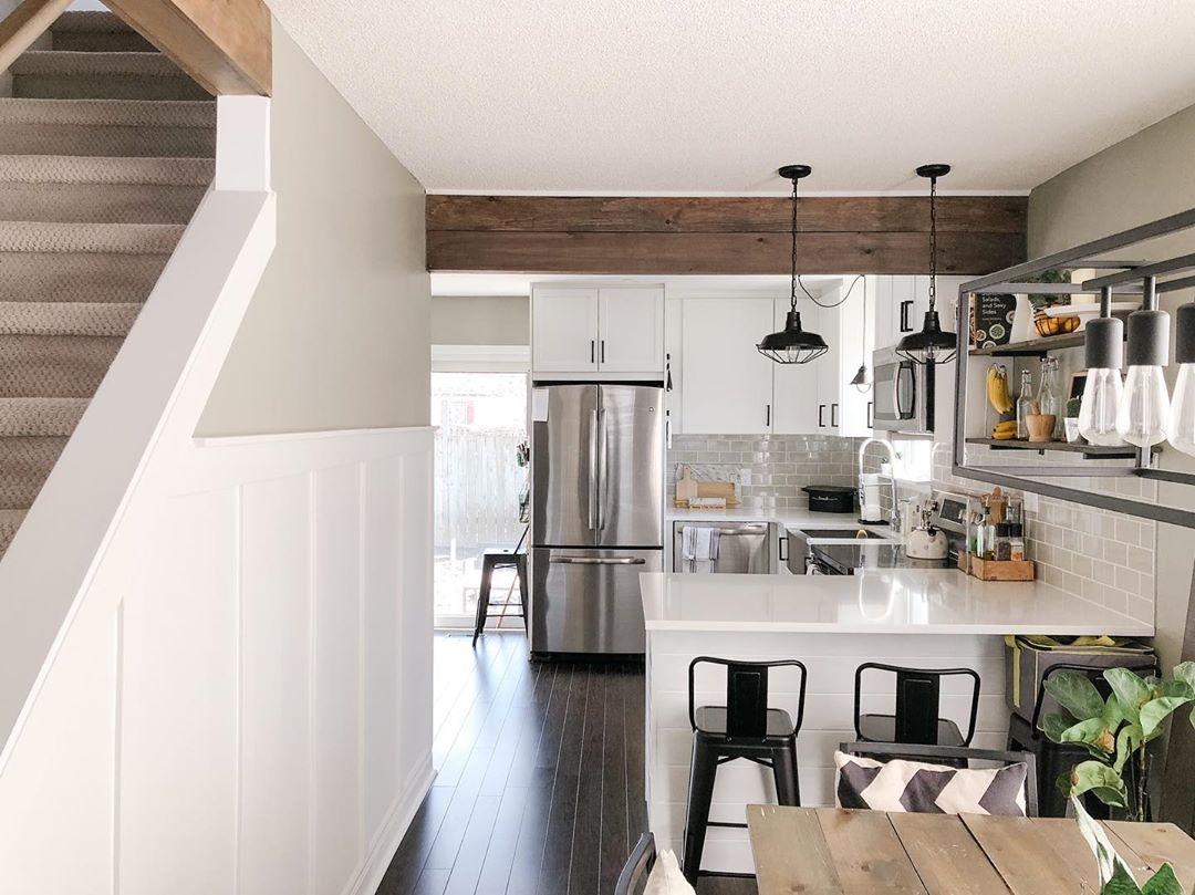 Avant / Après : Rénovation cuisine et salle à manger dans maison