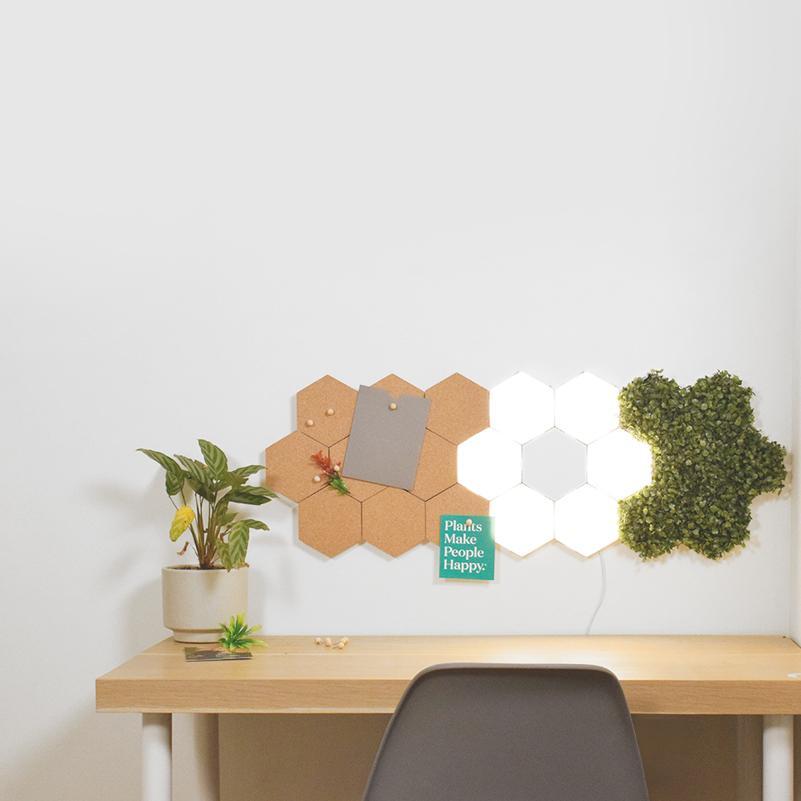 Aménagement d'un bureau avec les lampes POLYGON