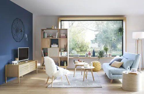 Salon avec verrière - deco scandinave