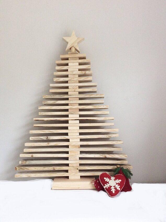 DIY sapin de Noel original en bois de palette