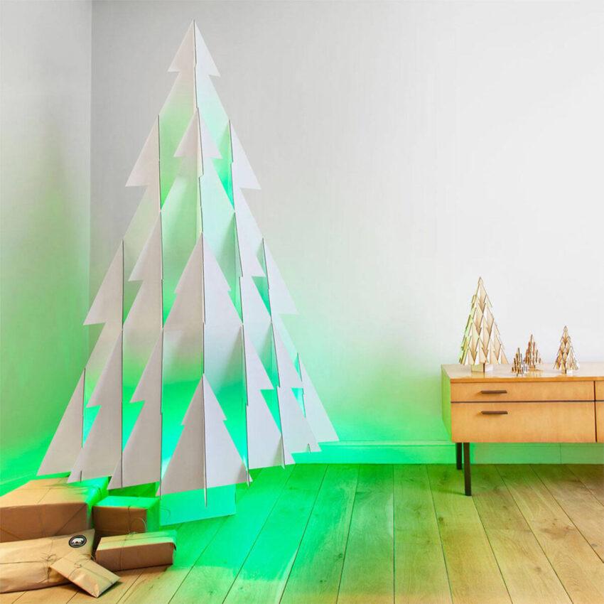 Sapin de Noël en papier avec lumière